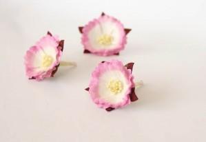 Китайские пионы - Розовый+белый 1 шт