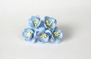 Цветы вишни - Голубые 170 1 шт 2см высота цветка 1,5 см длина стебля ок 5 см