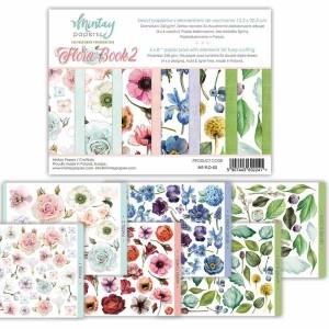 1/2 Flora book 2, 12 двусторонних листа для вырезания, размер 15,2 см х 20,3 см., пл.240 г/м2