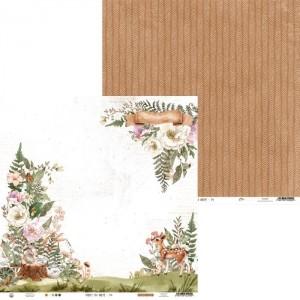 Лист бумаги из коллекции Forest tea party 04, 30,5х30,5 см, пл.240г/м