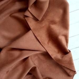 "Искуственная замша двусторонняя, цвет ""Светло-коричневый"", отрез 33х70 см"