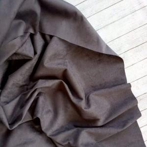 "Искуственная замша двусторонняя, цвет ""Серо-фиолетовый"", отрез 33х70 см"