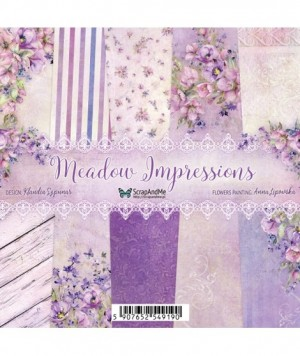 """Набор бумаги """"Meadow Impressions""""  30,5x30,5 см, 5 двусторонних листов,  пл. 250 гр."""
