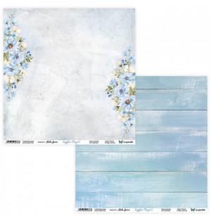 """Лист двусторонней бумаги """"Sapphire Days 01/02"""" 30,5х30,5 см., пл.250 гр"""