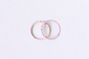 Кольца для альбомов, 2 шт розовые 20 мм