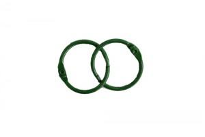 Кольца для альбомов, 2 шт зеленые 25 мм SCB 2504725