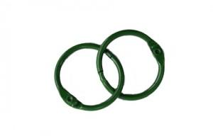 Кольца для альбомов, 2 шт зеленые 30 мм