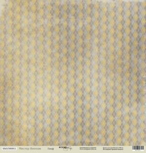 Лист односторонней бумаги 30x30 от Scrapmir Гольф из коллекции Мистер Винтаж