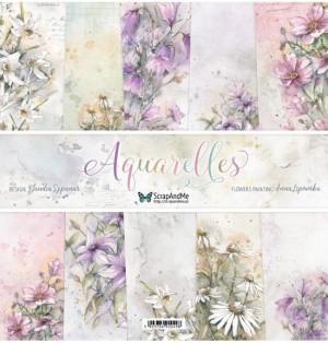 "Набор бумаги ""Aquarelles"" 30,5x30,5 см, 5 двусторонних листов, пл. 250 гр."
